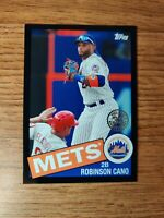 2020 TOPPS - ROBINSON CANO 35TH ANNIVERSARY BLACK PARALLEL 1985 NY METS #D /299