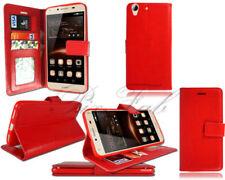 Fundas con tapa Para Huawei Y6 color principal rojo para teléfonos móviles y PDAs