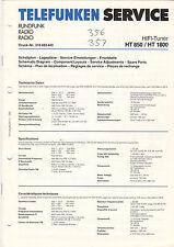 TELEFUNKEN Service Manual Anleitung HT 850 HT 1800  B1524
