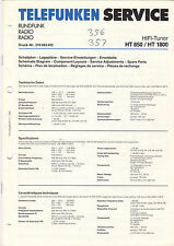 TELEFUNKEN service manual istruzioni HT 850 HT 1800 b1524