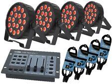 4 x QTX LED PAR 56 Tri pacchetto Inc Porta e scrivania lampade di illuminazione da Discoteca Palco