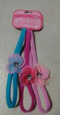 *New* Belle 3 Embellished Headwraps B007 Pink, Blue, Purple Flower