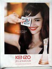 PUBLICITE-ADVERTISING :  KENZO Jeu d'Amour  2015 Louise Bourgoin,Eau de Toilette