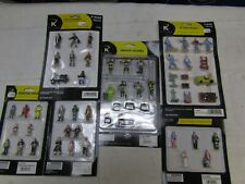 K-LINE PAINTED FIGURES O SCALE 5 PACKS NIB INCLUDES RARE 6-21445 FIRE FIGURES
