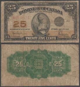 Canada - Dominion, 25 Cents, 1923, VF+, P-10