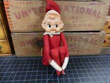 Vintage Christmas Elf Knee Hugger Red Felt
