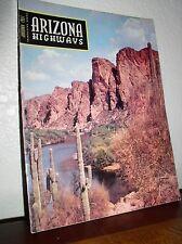 """Arizona Highways:""""Salt River Below Stewart Mt Dam"""" Jan. 1957-Vol.XXXIII No.1 Mag"""