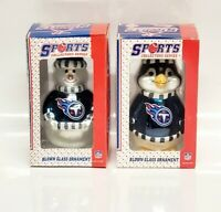 Lot of 2 Tennessee Titans Sports Collector Series Glass Ornament Penguin Snowman