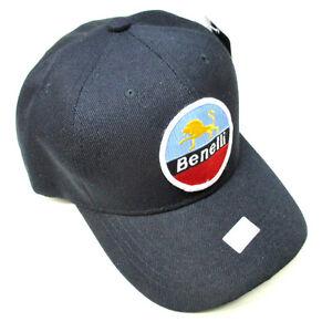 Benelli Hat baseball cap motorcycle patch black adjustable Wards Riverside