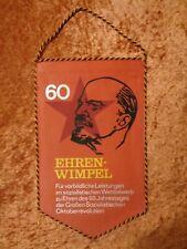 Ehrenwimpel 60. Anniversary Der Oktoberrevolution GDR FDGB Bezirksvorstand