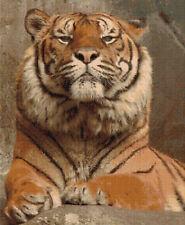 Arrogance Tiger Counted Cross Stitch Kit, Wildlife, Animals, Big Cats