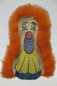 "Vintage Carnival Amusement~Ball Toss/Cat Rack Game~Knock Down~Clown Punk~9"" Tall"