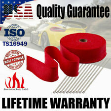 "2"" 50FT Insulation Thermal Exhaust Header Fiberglass Heat Wrap Tape w/ 10 Ties"