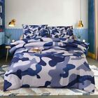 Btargot Camouflage Comforter Sets, Illustration with Abstract Soft Colors Patter