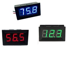 Blue / Red / Green LED Panel Meter Mini Digital Voltmeter DC 0V To 99.9V
