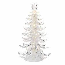 "12.5"" CLEAR LIGHTED TREE Plastic CHRISTMAS Battery Operated RAZ 4019074 NEW"