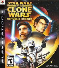 STAR WARS The CLONE WARS REPUBLIC HEROES PS3 - LN - Game Disc only