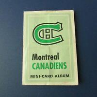 MONTREAL CANADIENS 1969-70 O-Pee-Chee Mini-card Album w/  Jean Beliveau Savard +