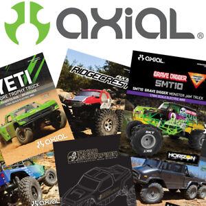 AXIAL RC Cars Trucks Rock Crawler Instruction Build Owner Manuals RTR ARTR Kits