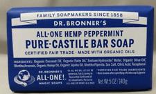 Dr. Bronner's Pure-Castile Bar Soap Peppermint Hemp 5oz. Fair Trade