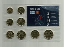 Kursmünzensatz Finnland aus dem Jahr 2012 im Blister, vergoldet mit 24 Karat