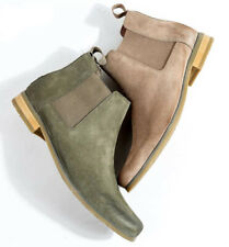 Mens Slip On Suede Leather Pointy Toe Ankle Chelsea Boot Casual Dress Shoes New