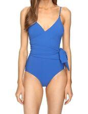 Women's Stella McCartney Timeless Basics Wrap Swimsuit Royal Blue Size XS