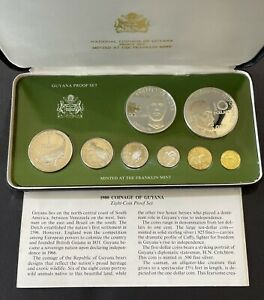 1980 Guyana Proof 8 Coin Set w/ Box & COA (AB-103)