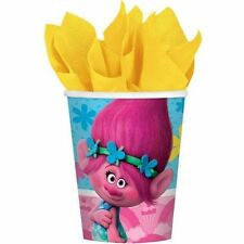 Trolls Paper Cups Pack of 8 Quality Licensed Kids Party Supplies Poppy