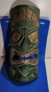 Polynesian Carved Tiki God Mask Island Vibe, Poolside, Patio, Bar