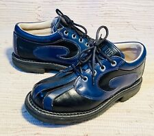 Vtg John Fluevog Midnight Blue Black Angel lace up oxfords Shoes Mens 5 Womens 7