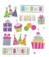 2 Sheets Glitter Birthday Planner Stickers Papercraft Envelope Seal Card Present