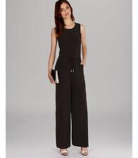 Karen Millen Black Sporty Zip Wide Leg All In One Trousers Jumpsuit Dress Up 12