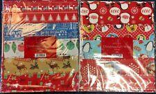 30 x SHEETS CHRISTMAS XMAS WRAPPING PAPER - 3 PACKS OF 10 Sheets BULK JOB LOT