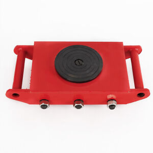 RED 8 Ton Heavy Duty Machine Dolly Skate Roller Machinery Mover 360° Rotation UK