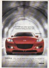 """2005 Mazda RX-8 Coupe photo """"Like No Other Sports Car"""" promo print ad"""