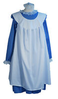 Girls Edwardian/Victorian/WW1/ BLUE DRESS WITH OVER PINNY Fancy Dress  all ages