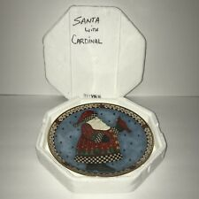 Franklin Mint Royal Doulton A Christmas Greeting Santa Cardinal Plate Ha9526