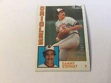 2017 Topps Update Rediscover Topps 1984 Topps Sammy Stewart Baltimore Orioles
