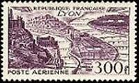 "Francia Sello Stamp Correo Aérea Yvert N º 26"" Vista Lyon 300F"" Nueva Xx"