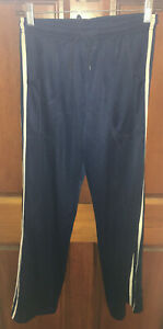 ATHLETIC WORKS WOMEN'S NAVY MESH ACTIVEWEAR TRAINING PANTS WITH POCKETS SIZE S
