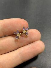 Stunning 9ct Gold Tanzanite And Diamond Earrings
