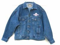 Haleman Jeans Men's Jacket Blue Denim Embroidered Country Tonite Men's XXL