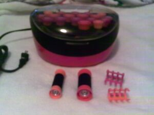 Remington 20 rollers hair curler warmer with clips set