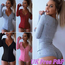 Womens Ladies Bardot Frill Off Shoulder Sexy Bodysuit Stretch Party Leotard Top