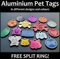 Aluminium Tags for Pets, With Personalised Back-Engraving, Dog, Cat, Pet, Tag!