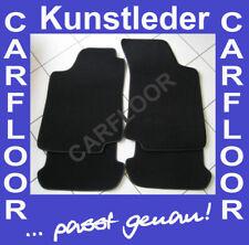 Für VW Golf 1Cabrio Fußmatten Velours Deluxe schwarz mit Kunstleder SCHWARZ