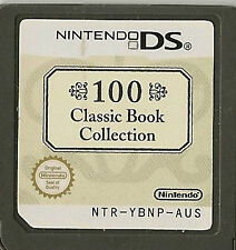 NINTENDO DS 100 CLASSIC BOOK COLLECTION GAME CARTRIDGE ONLY
