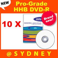 10 x NEW HHB DVD-R4.7GB-Minus Pro-Grade Recordable Rewritable DVD-RAM Blank Disc
