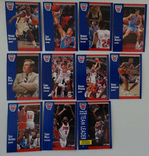 1991-92 Fleer New Jersey Nets Team Set Of 11 Basketball Cards
